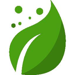 Grönt blad som beskriver miljövänlig hosting