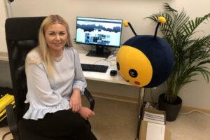 Bloggen träffar nya kollegan på Beebyte!